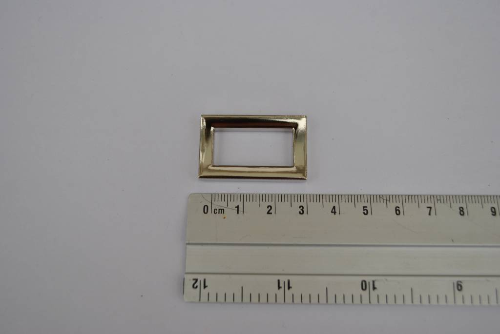 ring rechthoekig zilver 25mm