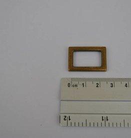 R40  rechthoekige ring brons  20mm