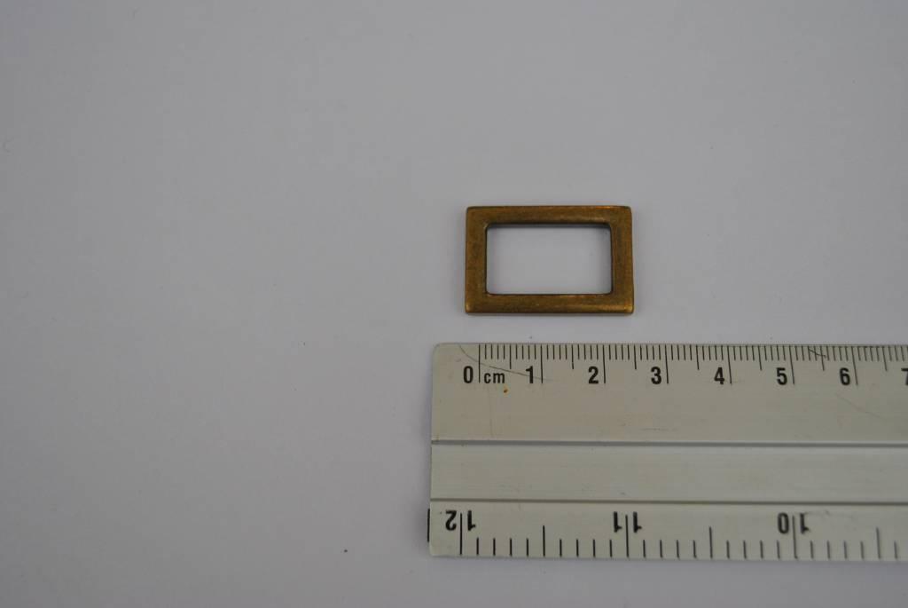 rechthoekige ring brons 20mm