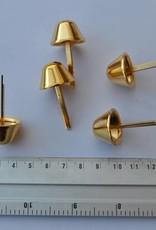 22 PO3 Pootjes met splitpennen konisch goud 22mm