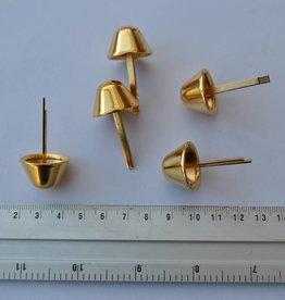 22 B18 Pootjes goud 22mm met splitpennen
