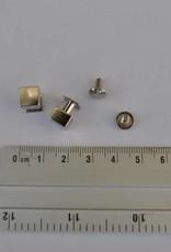 Geweerknopjes vierkant 8x11.5