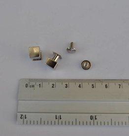 POM34 Geweerknopjes vierkant 8x11.5