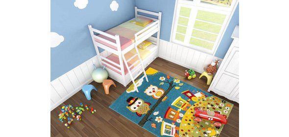 Lalee  Amigo Uil Kindervloerkleed 120x170 Blauw