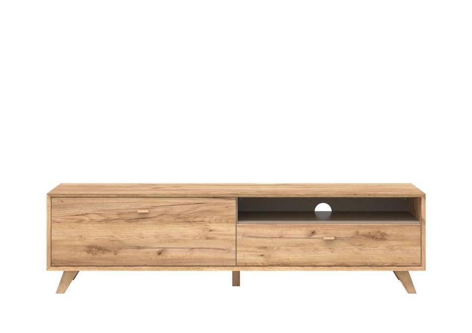 Calvi tv meubel large eiken hoge poten kopen bij furnea