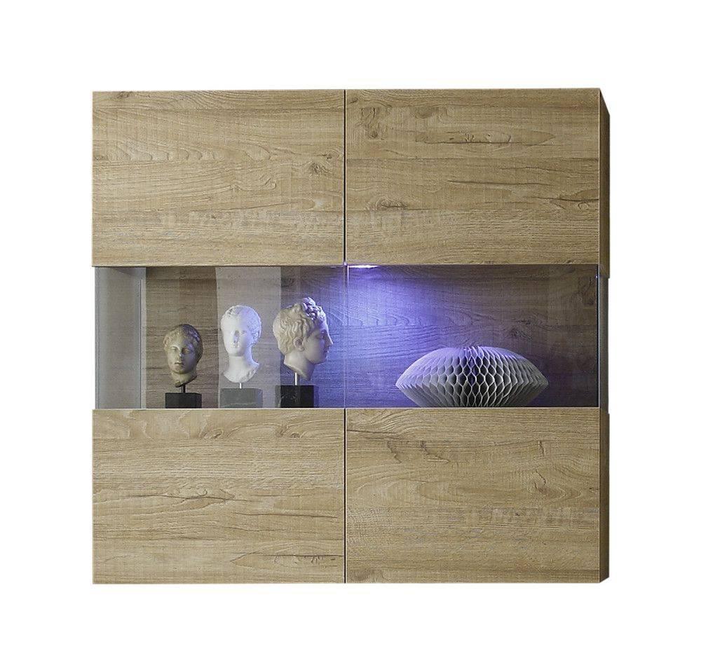 Benvenuto Design Line Vitrinekast Eiken+LED verlichting