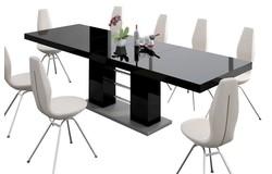 Linosa Uitschuifbare Eettafel HG Zwart
