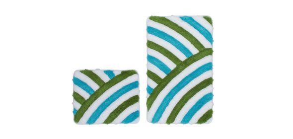Obsession In Style Badmat Aqua Set van 2 Basic
