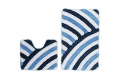 In Style Badmat Blauw Set van 2 U-Vorm