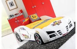 Racer Autobed Wit + Matras