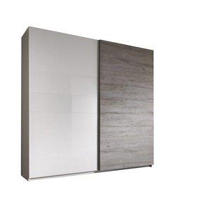 Benvenuto Design Italo Schuifdeurkast Grijs Eiken 240 cm.