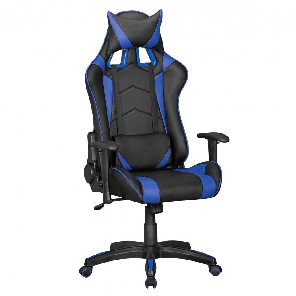 Sky Style Score Bureaustoel Zwart/Blauw