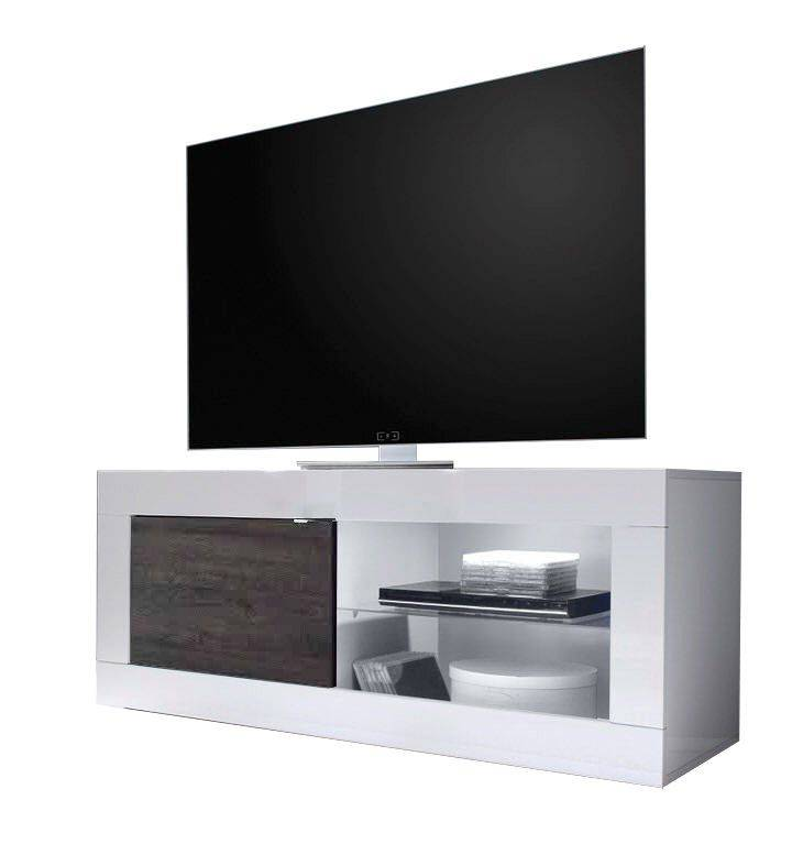 Benvenuto Design Modena TV meubel Small HG Wit/Wenge