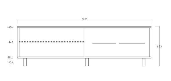 Benvenuto Design Aladin Dressoir Laag met Plexiglas poten