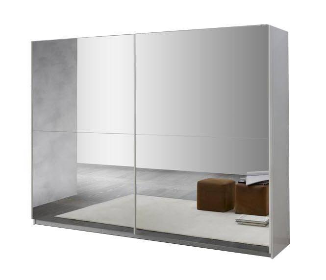 Davidi Design Kenzo Schuifdeurkast Zino HG Wit/Spiegel L180