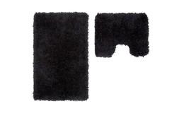 Cosmopolitan Badmat Zwart Set van 2 U-Vorm
