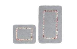 Vanity Badmat Zilver Set van 2 Basic