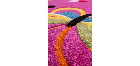 Lalee  Amigo Vlinder Kindervloerkleed Roze Outlet