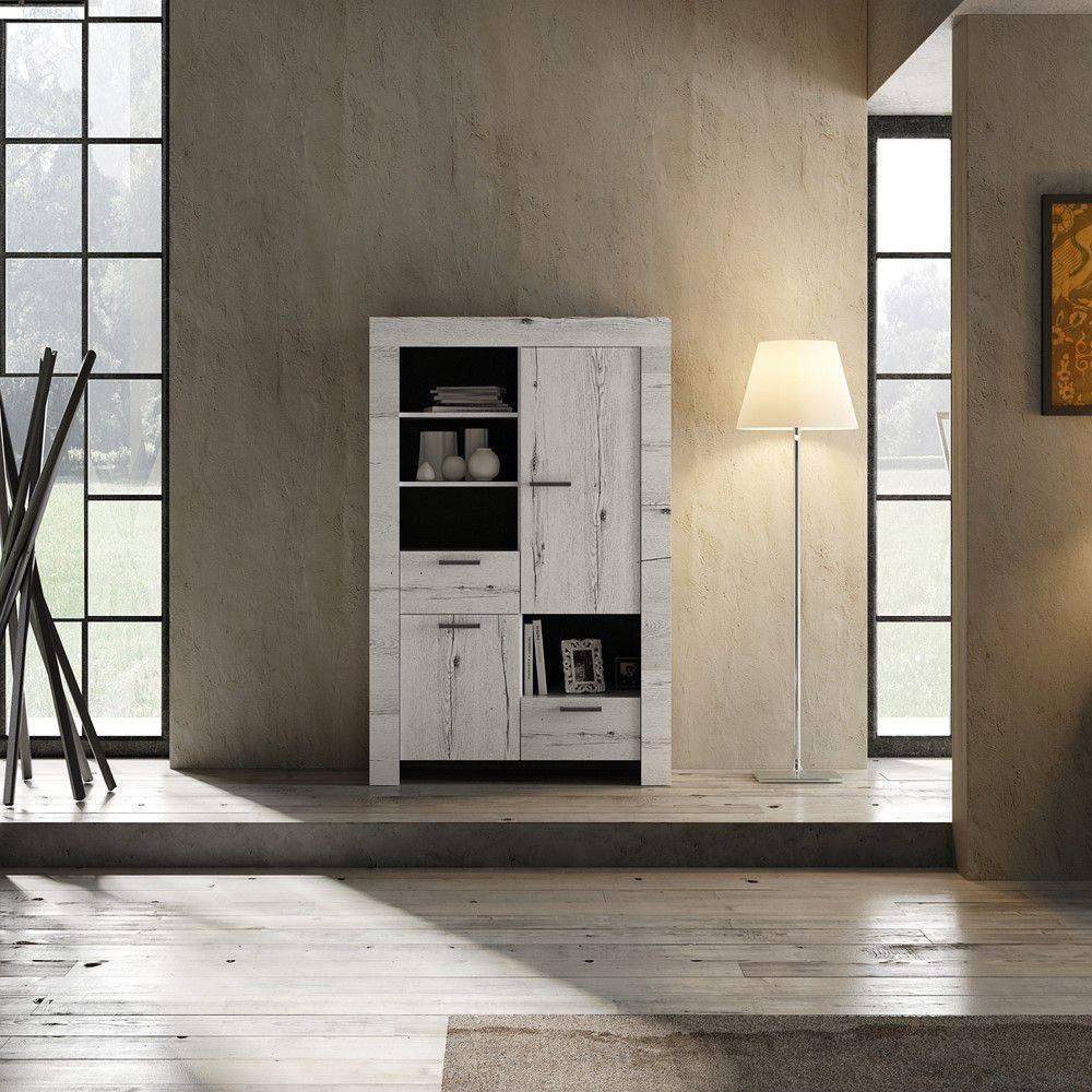 Benvenuto Design Land Opbergkast Deluxe Wit Eiken