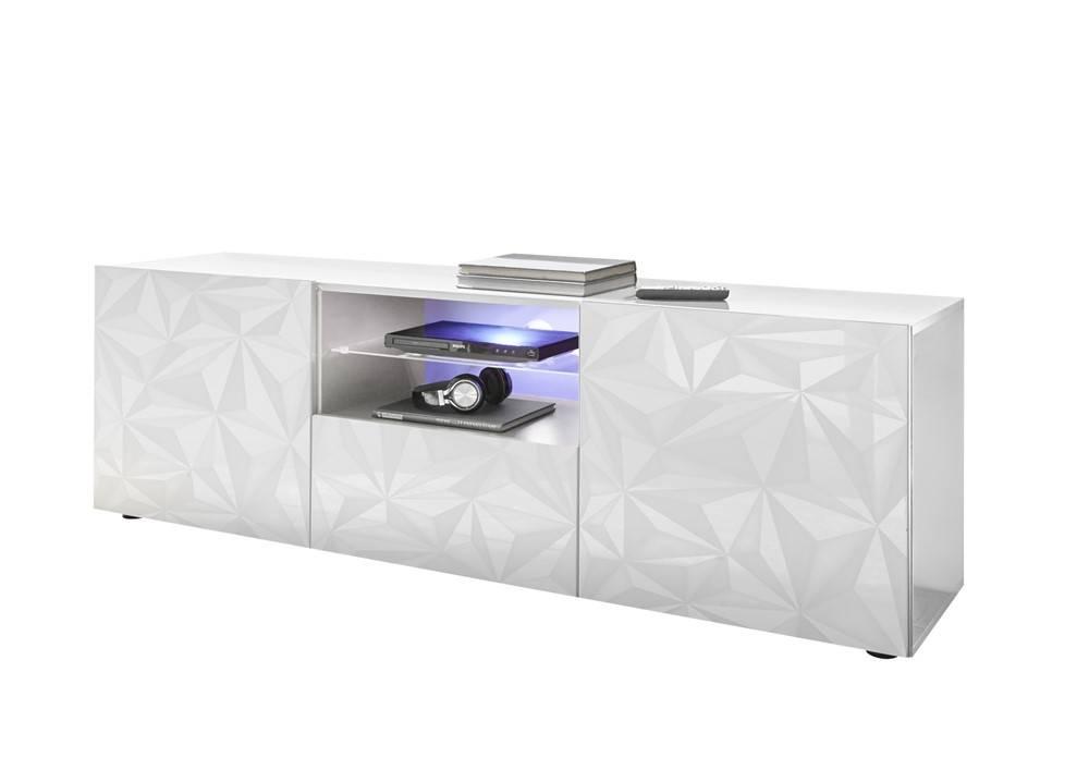 Nasmaak tv meubel geheel hoogglans wit cm nasmaak