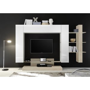 Benvenuto Design Nice TV wandmeubel Wit/Eiken