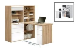 Franka Bureau Sonoma Eiken/HG Wit