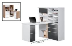 Franka Bureau Wit/HG Grijs