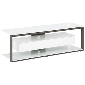 Maja Moebel Lewin TV-meubel Small Wit/Antraciet Glas