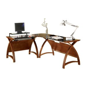 Jual Furnishings PC-201 Hoekbureau Walnoot