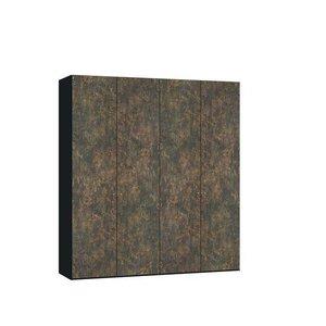 Ferro Draaideurkast Brons/Zwart 4 deurs