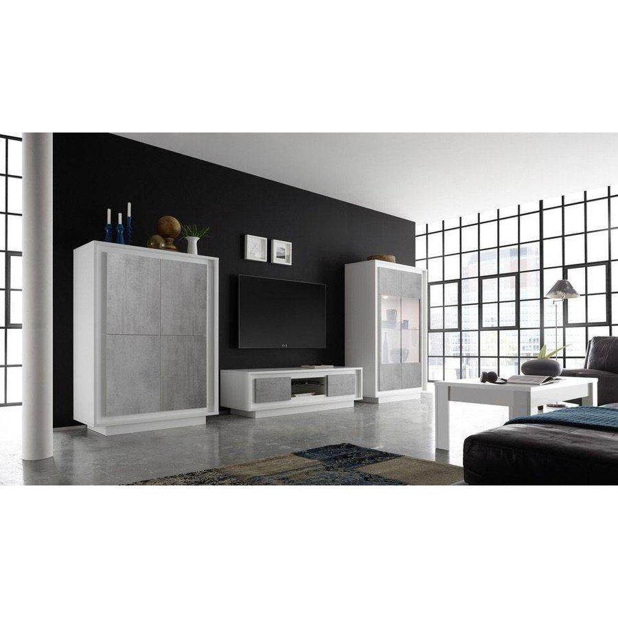 Sky TV meubel Cement/Wit