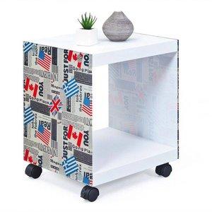 Inter Link SAS Cube Bijzettafel Vlaggen