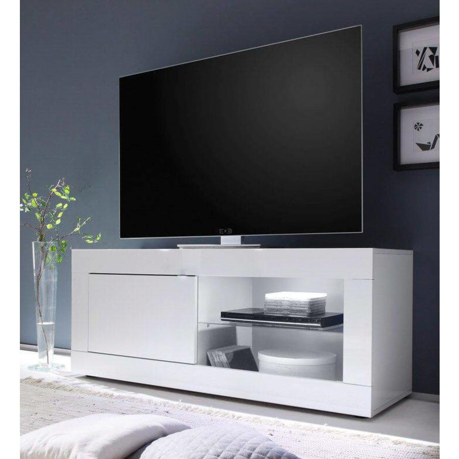 Modena TV meubel Small Hoogglans Wit