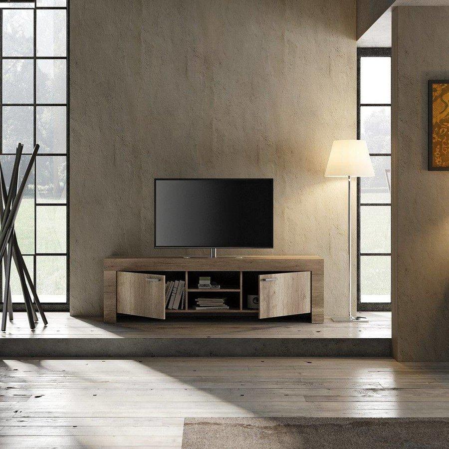 Land TV-meubel Large Canyon Eiken