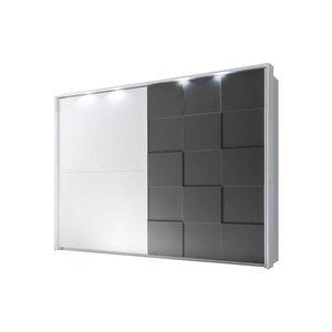 Benvenuto Design Ottica Schuifdeurkast Wit/Grijs 275 x 210 cm