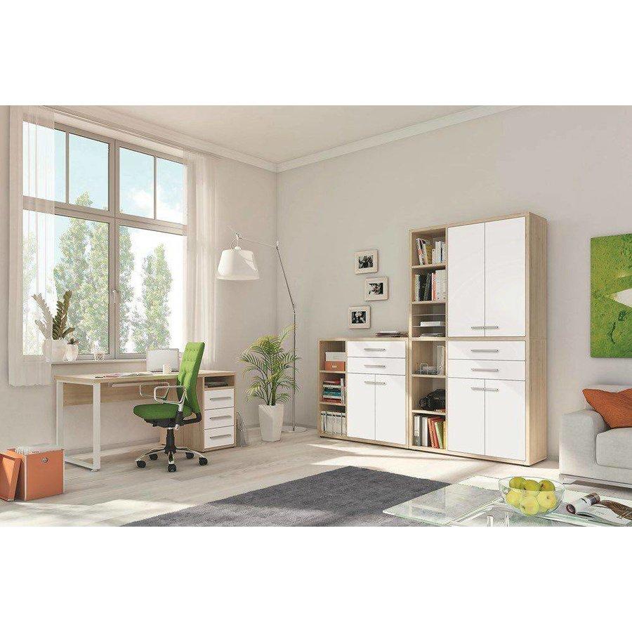 Set+ Bureau met Lades Naturel Eiken/Wit