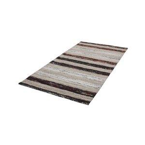 Kayoom Duarte Vloerkleed 80 x 150 cm Zwart/Wit