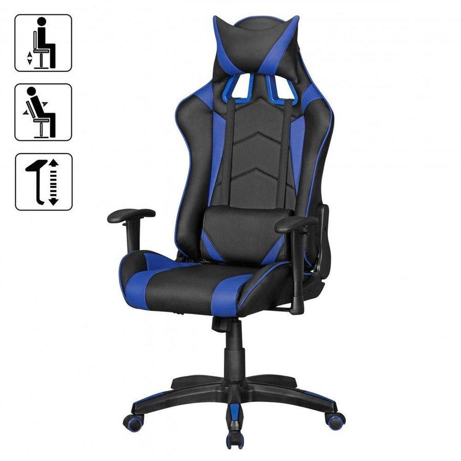 Score Bureaustoel Zwart/Blauw