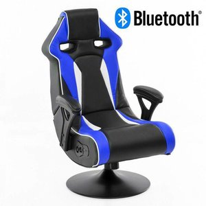 Music Rocker Specter Gamestoel Blauw met Bluetooth