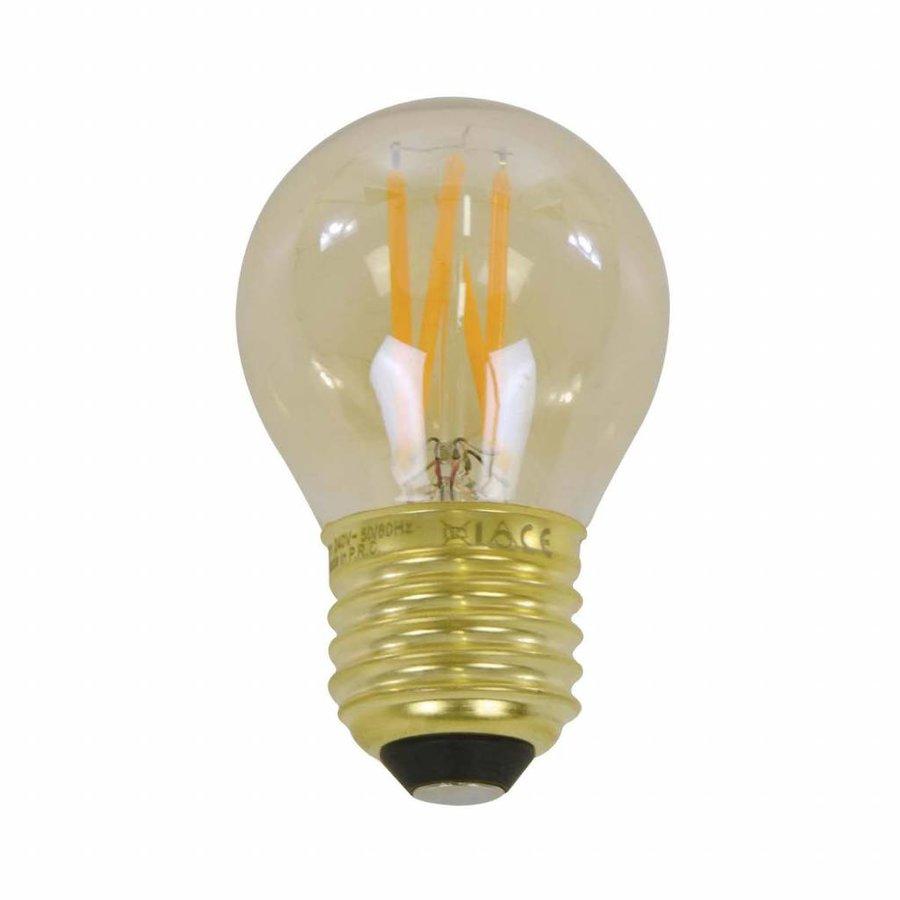 5x Lichtbron LED filament bol Ø4,5