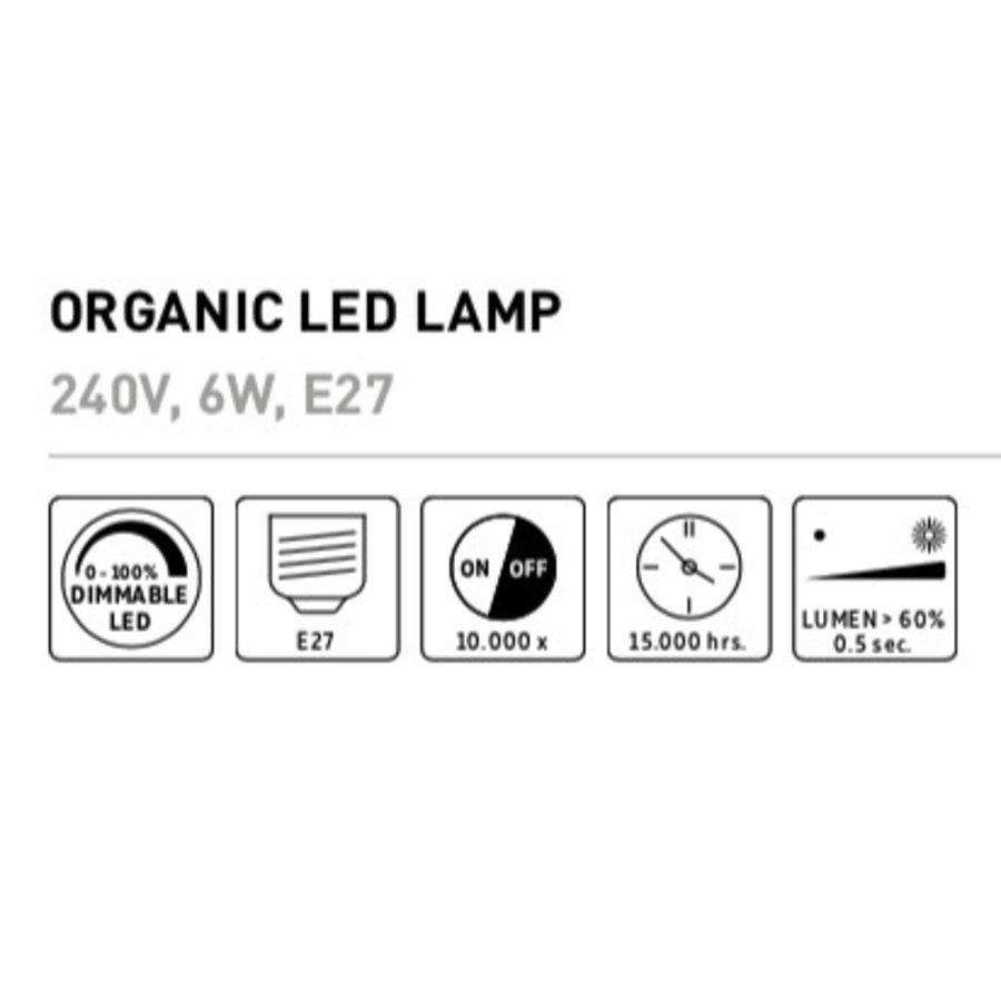 Organic LED lamp Goud