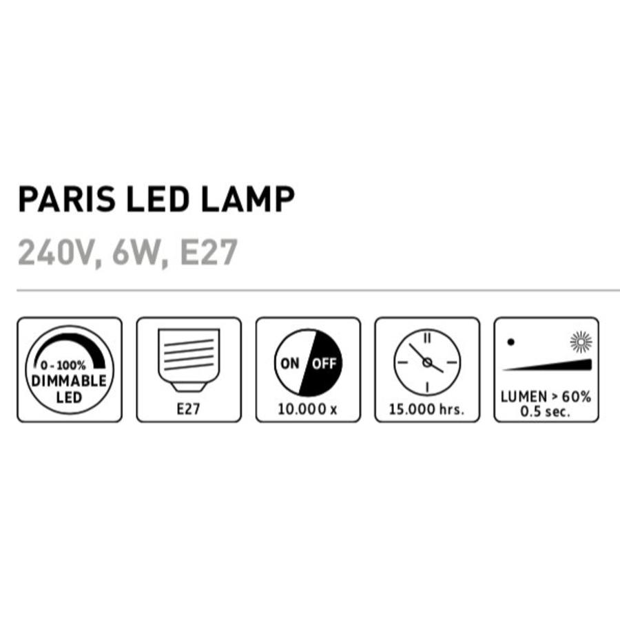 Paris LED lamp Goud