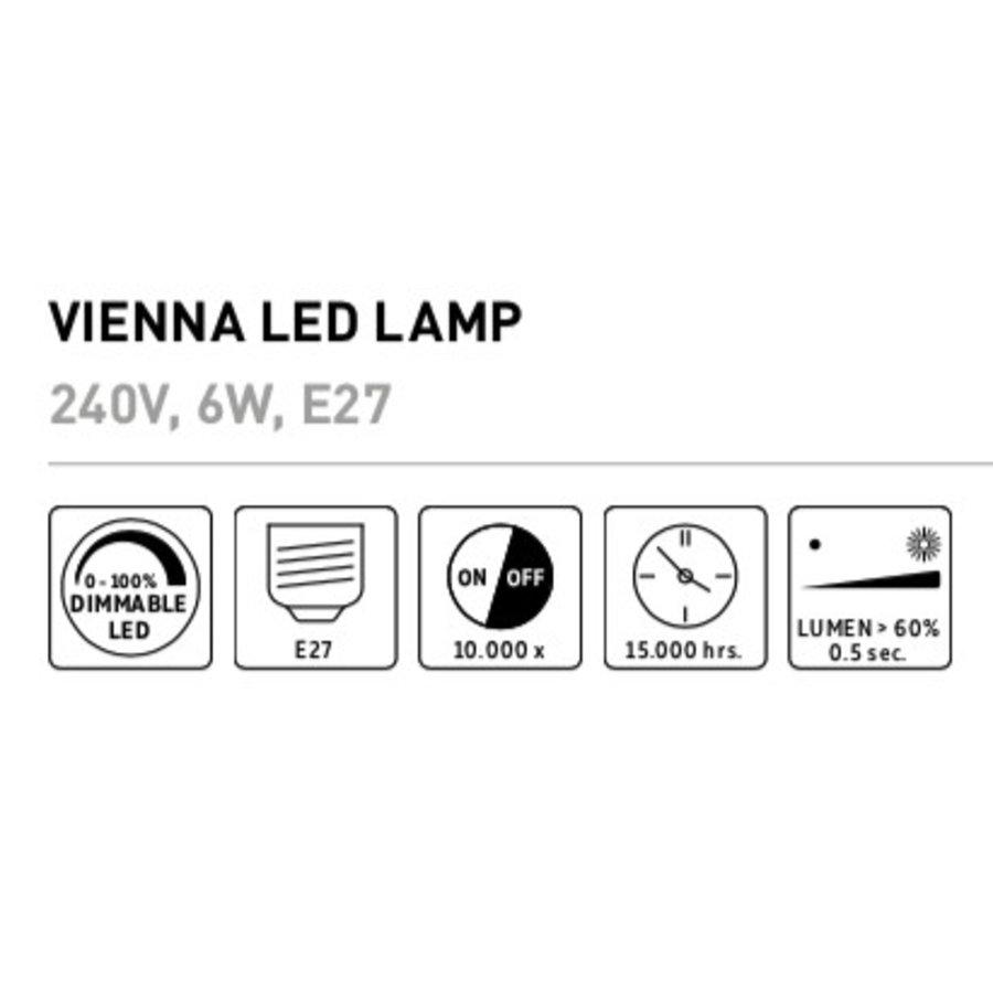 Vienna LED lamp Goud