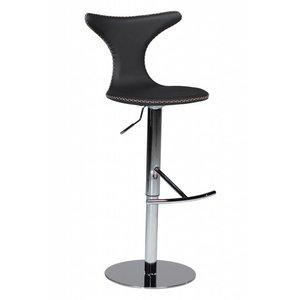 Dan Form Dolphin Barstoel met Gas Lift Zwart