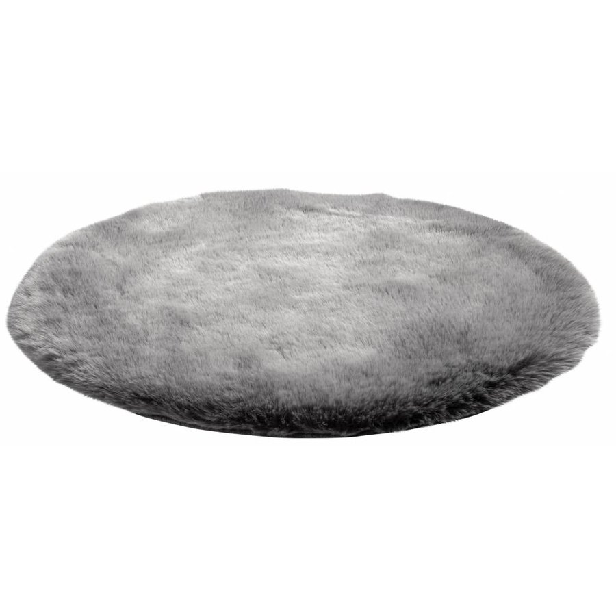 Samba Rond Vloerkleed Ø80 cm Zilver