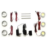 LED power spot wit + Glas verlichting Triple