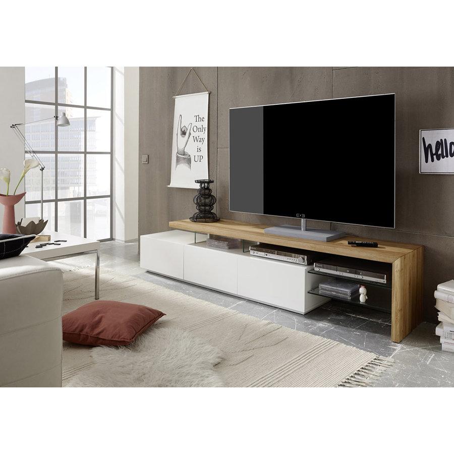 Alimos TV-meubel Wit / Eiken