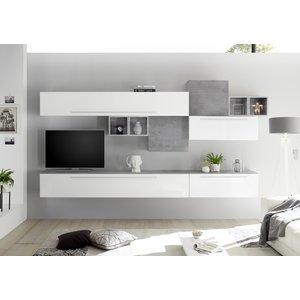 Benvenuto Design Bex TV-wandmeubel 1 Wit / Beton