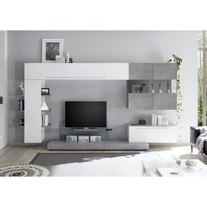 Benvenuto Design Bex TV-wandmeubel 2 Wit / Beton