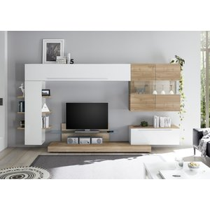Benvenuto Design Bex TV-wandmeubel 2 Wit / Eiken